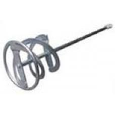 Мешалка для растворов «двойная спираль» 120х600 мм с посадкой M14