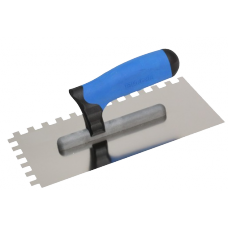 Нержавеющая тёрка 130x270 мм, зубчатая 12x12 мм, ручка G-11