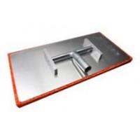 Тёрка алюминиевая шарнирная  с резиновой губкой 200х400 мм