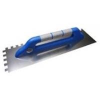 Тёрка нержавеющая 130х480 мм, зубчатая 12Х12 мм, ручка G-12