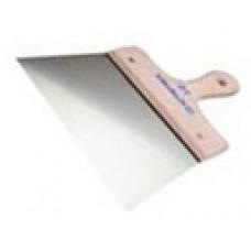 Шпатель нержавеющий  140 мм, деревянная ручка